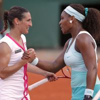 Virginie Razzano et Serena Williams