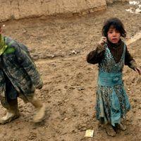 Des enfants afghans dans un camp de déplacés près de Kaboul
