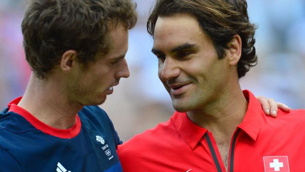 Andy Murray et Roger Federer