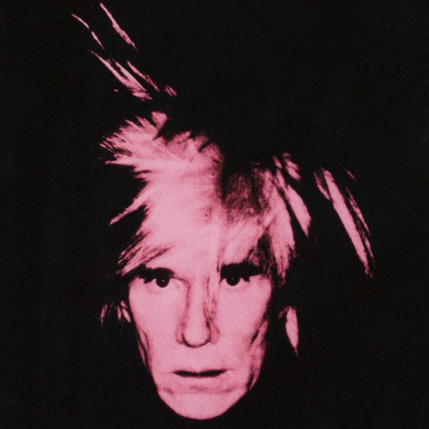 "Andy Warhol, ""Pink Fright Wig"", 1986."